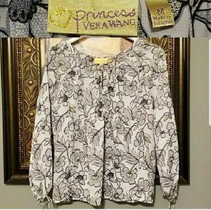 Princess Vera Wang  floral blouse E236:8:619